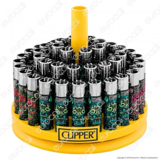 Clipper Large Fantasia Heavy Skulls 4 - Box da 48 Accendini