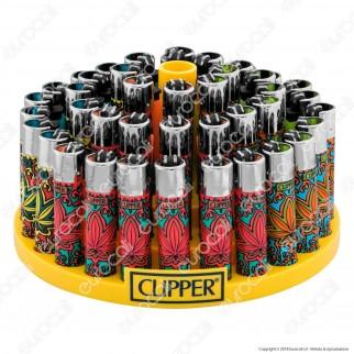 Clipper Large Fantasia Crystal Leaves 1 - Box da 48 Accendini