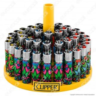 Clipper Large Fantasia Crystal Leaves 2 - Box da 48 Accendini
