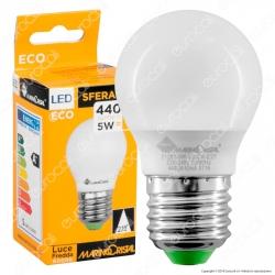 Marino Cristal Serie ECO Lampadina LED E27 5W MiniGlobo G45 - mod. 21279 / 21280 / 21281