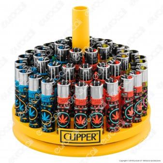 Clipper Large Fantasia Crystal Leaves 3 - Box da 48 Accendini