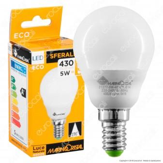 Marino Cristal Serie ECO Lampadina LED E14 5W MiniGlobo P45 - mod. 21276 / 21277 / 21278