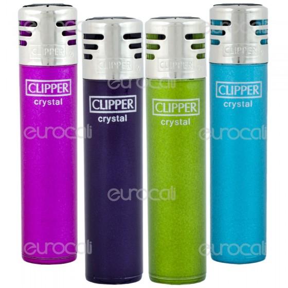 Clipper Micro Elettronico Fantasia Crystal - 4 Accendini C27