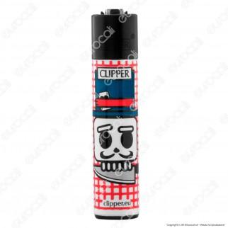 Clipper Large Fantasia Skary Skulls - Box da 48 Accendini