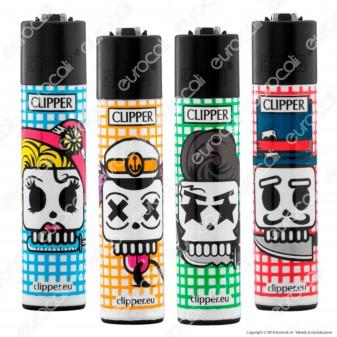 Clipper Large Fantasia Fortune Skary Skulls - 4 Accendini