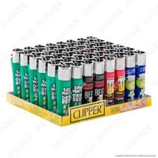 Clipper Large Fantasia Happy Beer - Box da 48 Accendini