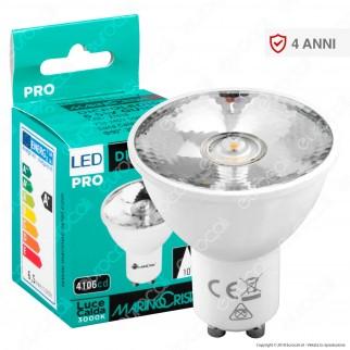 Marino Cristal Serie PRO Dicroled10 Lampadina LED GU10 6,5W Faretto Spotlight CRI+90 - mod. 21518