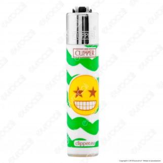 Clipper Micro Fantasia Happy Emoji 1 - Box da 48 Accendini