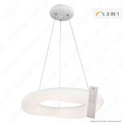 V-Tac VT-7750 Lampadario LED a Sospensione 82W Bianca Forma Circolare con Telecomando - SKU 3960