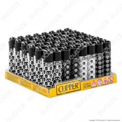 Clipper Micro Fantasia Baby Skulls - Box da 48 Accendini