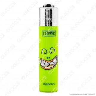 Clipper Micro Fantasia Monster Mouth - Box da 48 Accendini