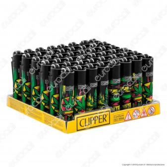 Clipper Micro Fantasia Reggae Leaves - Box da 48 Accendini