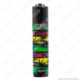 Clipper Micro Fantasia Reggae Leaves - 4 Accendini