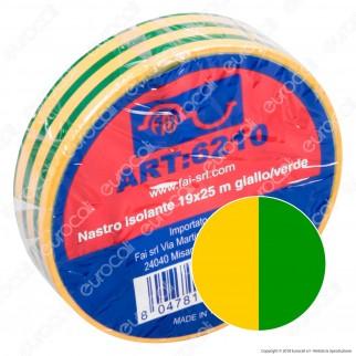 Fai Nastro Isolante Certificato VDE 25 Metri - mod. 6210 / 6211 / 6212 / 6213 / 6214 / 6215