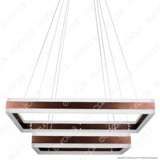 V-TAC VT-101-2 Lampadario LED Anello Doppio 100W Sospensione in Metallo Colore Caffè - SKU 3988