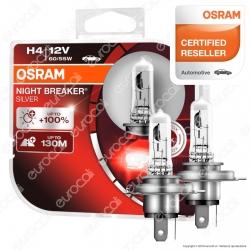 Osram Night Breaker Silver 60W - 2 Lampadine H4