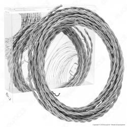 FAI Cavo di Collegamento Elettrico in Corda Intrecciata per Lampade di Design Colore Argento