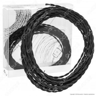 FAI Cavo di Collegamento Elettrico in Corda Intrecciata per Lampadari Colore Nero - mod. 9000/10/2075/NE