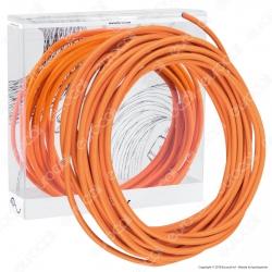 FAI Cavo di Collegamento Elettrico in Corda per Lampade di Design Colore Arancio