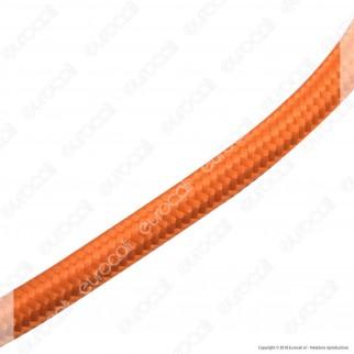 FAI Cavo di Collegamento Elettrico in Corda per Lampade di Design Colore Arancione