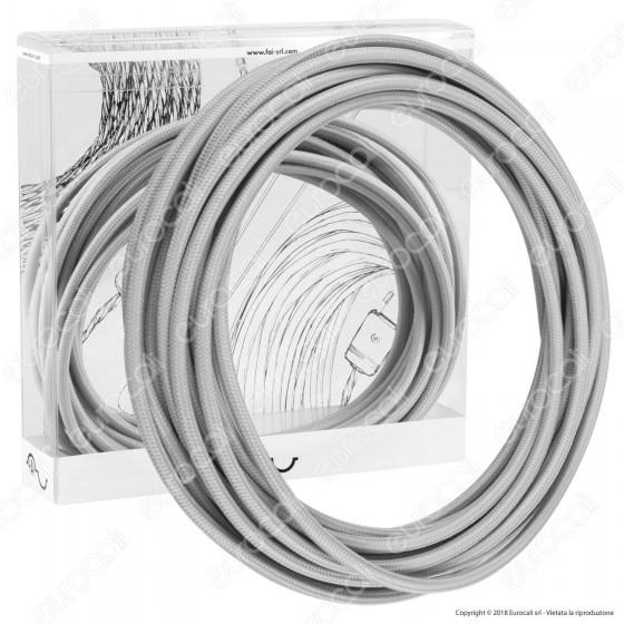 FAI Cavo di Collegamento Elettrico in Corda per Lampade di Design Colore Argento