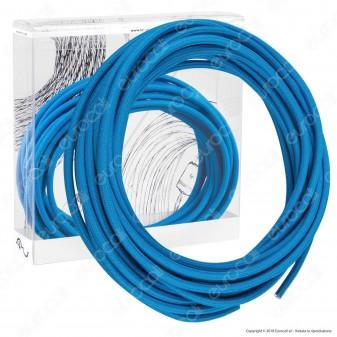 FAI Cavo di Collegamento Elettrico in Corda per Lampade di Design Colore Turchese