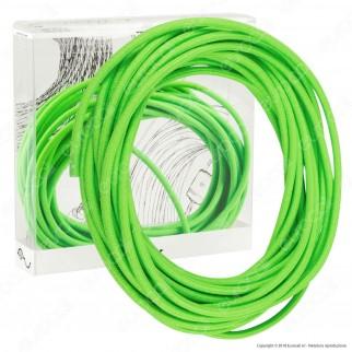 FAI Cavo di Collegamento Elettrico in Corda per Lampade di Design Colore Verde Fluo