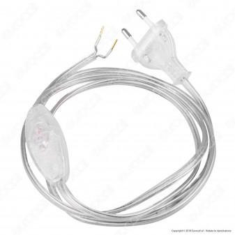 FAI Cavo di Alimentazione Bipolare con Interruttore e Spina 10A - Lunghezza 1,5m - mod. 3021/TR