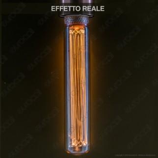 Wiva GlassLight Lampadina LED E27 2W Tubolare Ambrata con Incisioni Laser - mod. 12100631