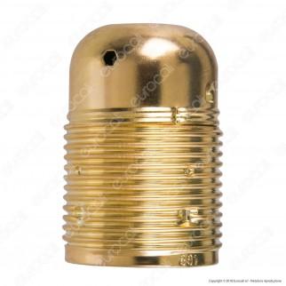 FAI Portalampada in Metallo per Lampadine E27 Colore Ottone