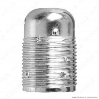 FAI Portalampada in Metallo per Lampadine E27 Colore Argento