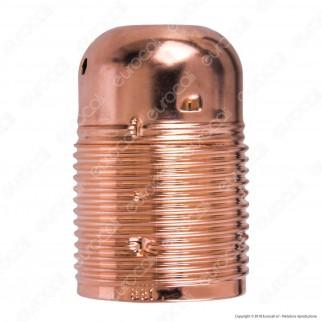 FAI Portalampada in Metallo per Lampadine E27 Colore Rame
