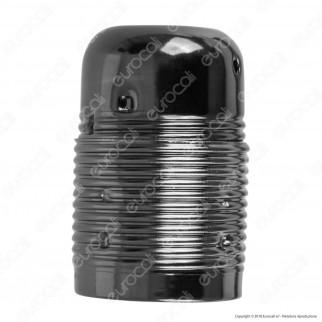 FAI Portalampada in Metallo per Lampadine E27 Colore Nero