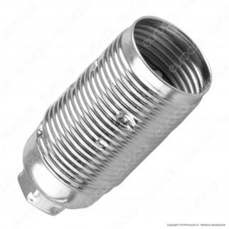 FAI Portalampada in Metallo per Lampadine E14 Colore Argento