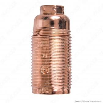 FAI Portalampada in Metallo per Lampadine E14 Colore Rame