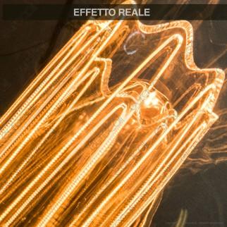 Wiva GlassLight Lampadina LED E14 2W Tubolare Ambrata con Incisioni Laser - mod. 12100630