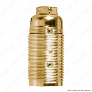 FAI Portalampada in Metallo per Lampadine E14 Colore Ottone