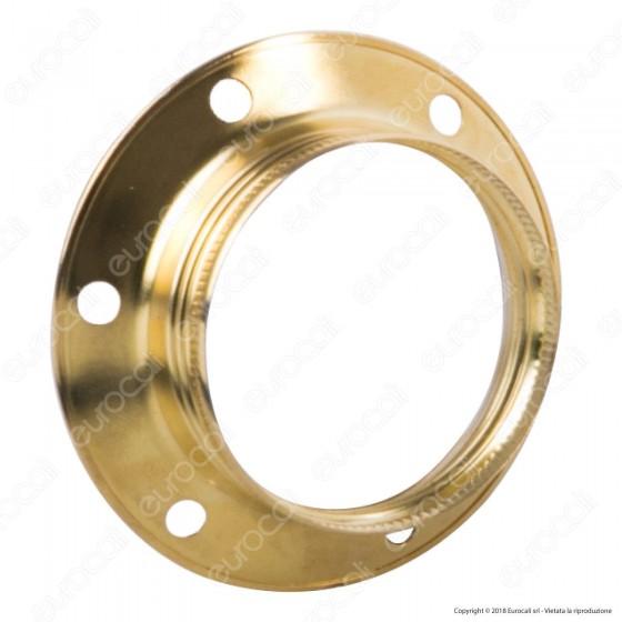 FAI Ghiera Filettata in Metallo per Portalampada E27 Colore Ottone