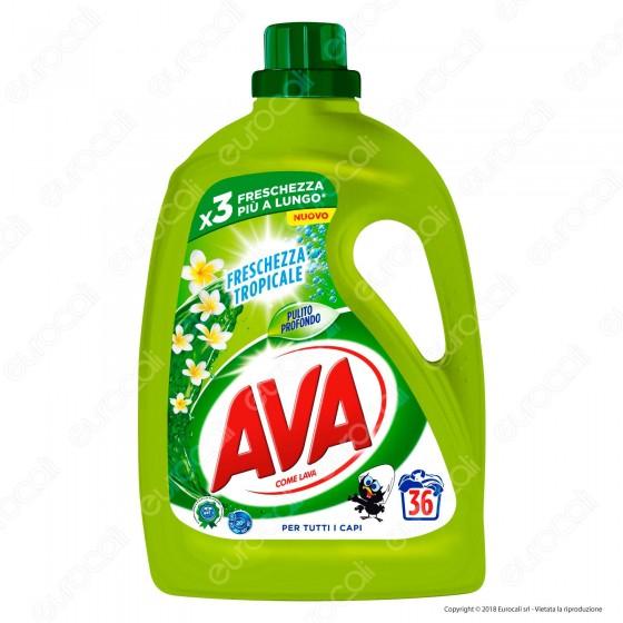 AVA Freschezza Tropicale Detersivo Liquido per Bucato in Lavatrice e a Mano - 1800ml