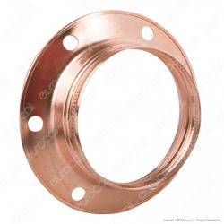FAI Ghiera Filettata in Metallo per Portalampada E27 Colore Rame