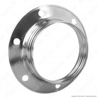 FAI Ghiera Filettata in Metallo per Portalampada E27 Colore Argento