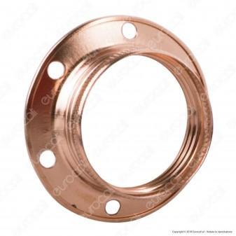 FAI Ghiera Filettata in Metallo per Portalampada E14 Colore Rame