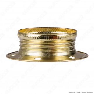 FAI Ghiera Filettata in Metallo per Portalampada E14 Colore Ottone