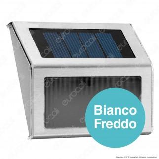 Life Segnapasso LED da Muro 0,2W con Pannello Solare e Sensore Crepuscolare - mod.39.9PLS113S