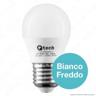 Qtech Lampadina LED E27 4W MiniGlobo G45 - mod. 90020016 / 90020017 / 90020018