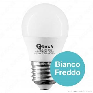 Qtech Lampadina LED E27 6W MiniGlobo G45 - mod. 90020019 / 90020020 / 90020021 / 90020022