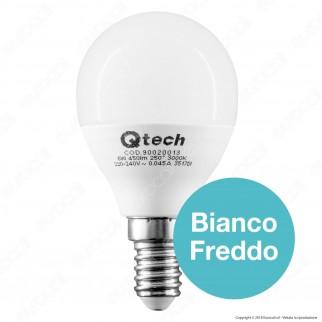 Qtech Lampadina LED E14 6W MiniGlobo P45 - mod. 90020012 / 90020013 / 90020014 / 90020015