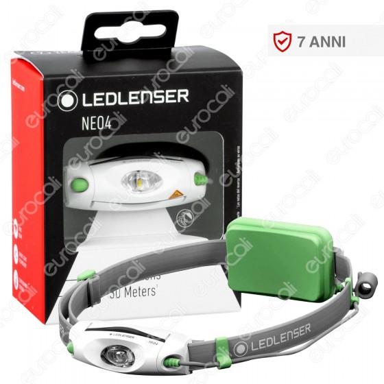 Ledlenser Neo 4 Torcia LED Headlight Multifunzione Colore Verde - Torcia Frontale - mod. 500915