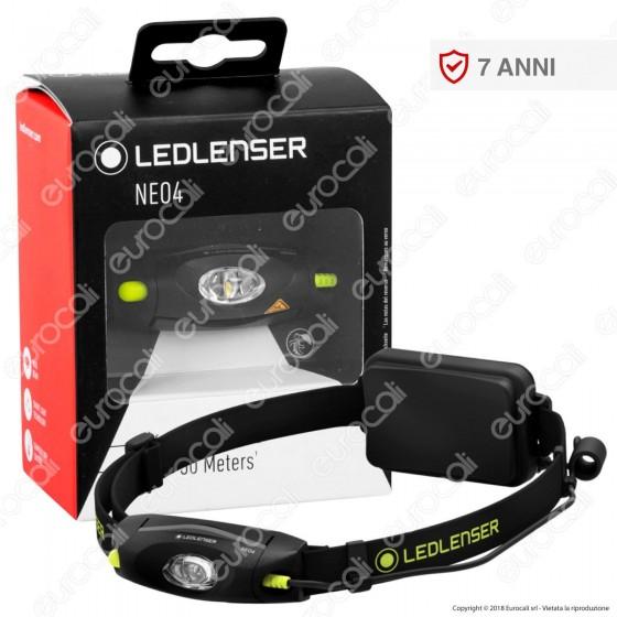 Ledlenser Neo 4 Torcia LED Headlight Multifunzione Colore Nero - Torcia Frontale - mod. 500982