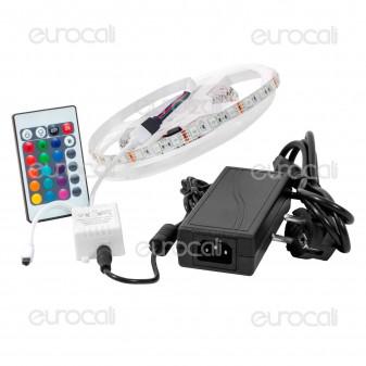 V-Tac Kit con Striscia LED 5050 Multicolore RGB 5mt Controller e Alimentatore